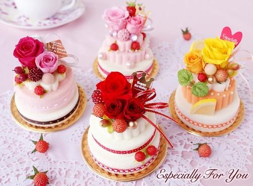お花のケーキ・・・